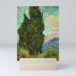 Cypresses Oil Painting Landscape Vincent van Gogh Mini Art Print
