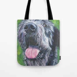 Irish Wofhound Dog Portrait Fine Art from an original painting by L.A.Shepard Tote Bag