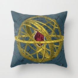 Heartcentrical sistem Throw Pillow