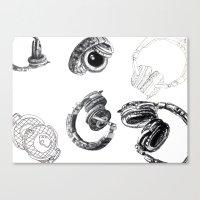 headphones Canvas Prints featuring Headphones by Ashley Jones