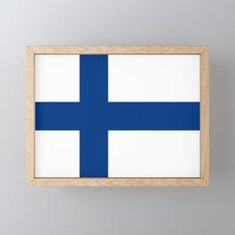 Flag of Finland Finnish Flag Framed Mini Art Print