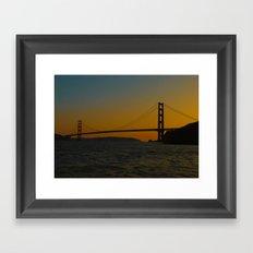Golden Gate Bridge at Sunset -- San Francisco Framed Art Print