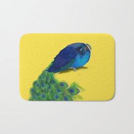 The Beauty That Sleeps - Vertical Peacock Painting Bath Mat