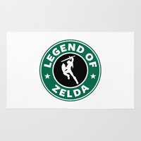 legend of zelda Area & Throw Rugs featuring Legend Of Zelda by Royal Bros Art