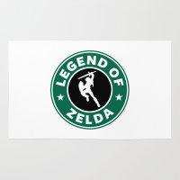 the legend of zelda Area & Throw Rugs featuring Legend Of Zelda by Royal Bros Art