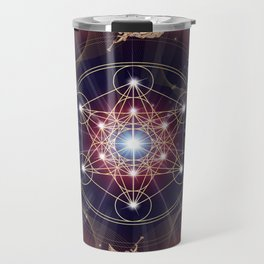 Metatron's Cube - Merkabah - Peace and Balance Travel Mug