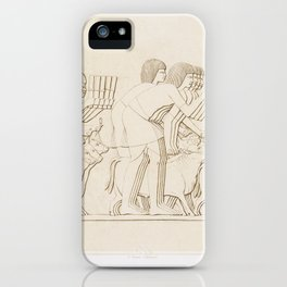 Cattle count from Histoire de l'art égyptien (1878) by Émile Prisse d'Avennes iPhone Case