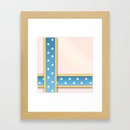Polka Dot Ribbons Framed Art Print