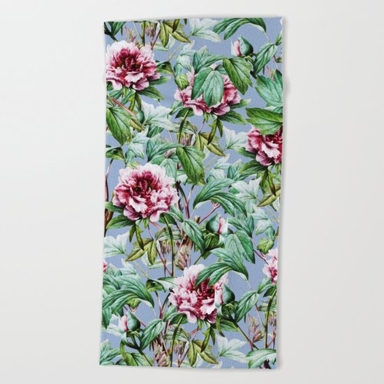 Frosty Florals #society6 #decor #buyart Beach Towel