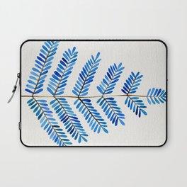 Blue Leaflets Laptop Sleeve