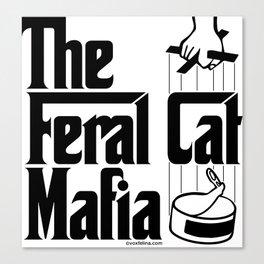 The Feral Cat Mafia (BLACK printing on light background) Canvas Print