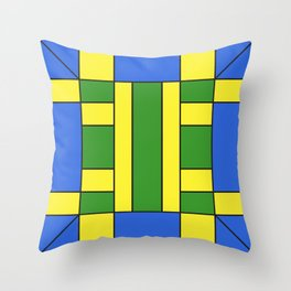 They were all yellow... blue and green Throw Pillow