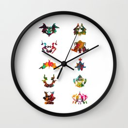 Collection of Rorschach inkblot tests Wall Clock