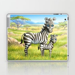 Zebra and Foal Laptop & iPad Skin