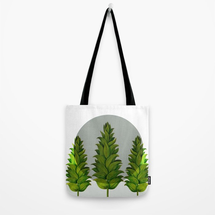 three green trees Tote Bag