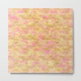 Gold Glitz Pink Watercolor Metal Print