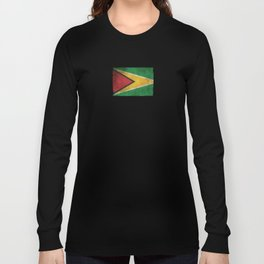 Old and Worn Distressed Vintage Flag of Guyana Long Sleeve T-shirt