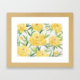 Peonies Watercolor Framed Art Print