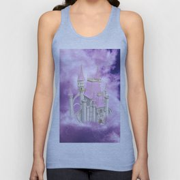 Pink Fairytale Castle Unisex Tank Top
