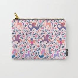 Fairy Folk Floral Carry-All Pouch