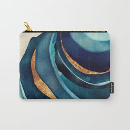 Abstract Blue with Gold Carry-All Pouch