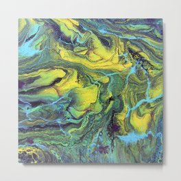 Melting Mountains Abstract Metal Print
