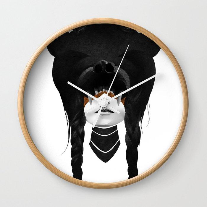 Bear Warrior Wall Clock