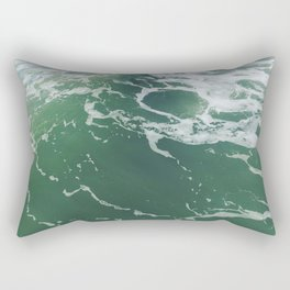 Sea Foam Green Ocean Wave Photograph Rectangular Pillow