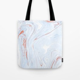 Blue Orange Marble Retro Marble Paper Tote Bag