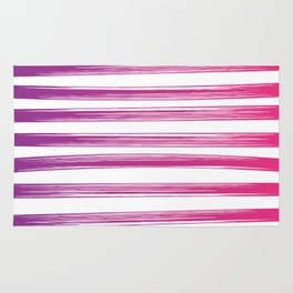 Drawn Lines Purple to Pink Ombre Rug