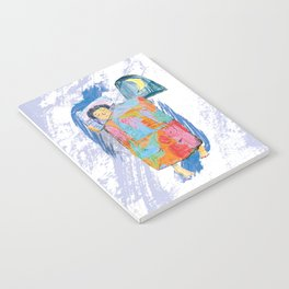 Sleeping and dreaming illustration, design for children Notebook