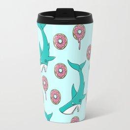 Shark Versus Donut Travel Mug