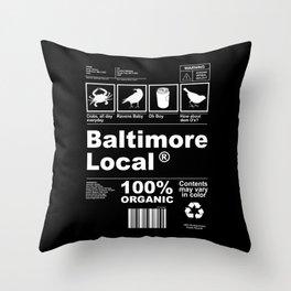 Baltimore Local Throw Pillow