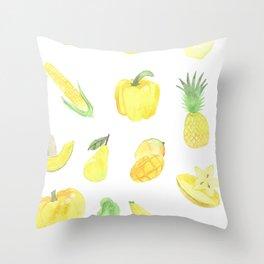 Yellows Throw Pillow