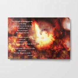 The Dragon is Awake Metal Print