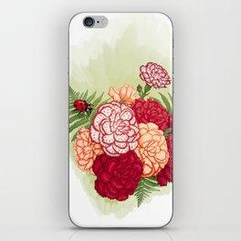Full bloom | Ladybug carnation iPhone Skin