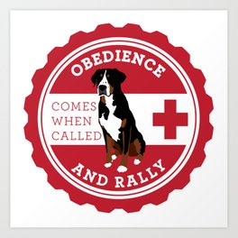 Obedience and Rally Badge Art Print