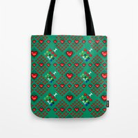 video games Tote Bags featuring I 3 up video games by Fabian Gonzalez