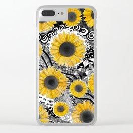 girasol, tournesol, sunflower Clear iPhone Case