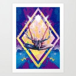 Autre visage du Yoga au Cerf Art Print