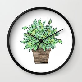 Little Potted Plant Wall Clock