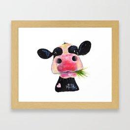 CoW PRiNT ANiMaL PRiNT ' HuRLeY BuRLeY ' BY SHiRLeY MacARTHuR Framed Art Print