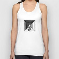 labyrinth Tank Tops featuring Labyrinth by Maria Quilez