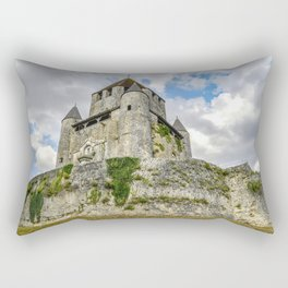 Medieval Castle on a Hill Rectangular Pillow