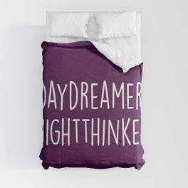 Daydreamer Night Thinker Quote Comforters
