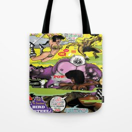 Space Chick & Nympho: Vampire Warrior Party Girl Comix #2 - Comic Book Cover Tote Bag