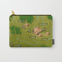 Pixel Map of Oaxaca Carry-All Pouch
