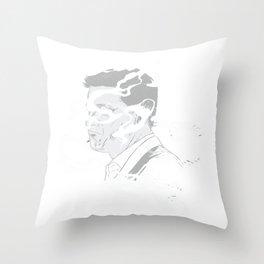 Smokey Man Throw Pillow