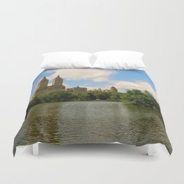 San Remo Towers And The Lake Duvet Cover