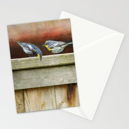 Two Warblers on The Fence Stationery Cards